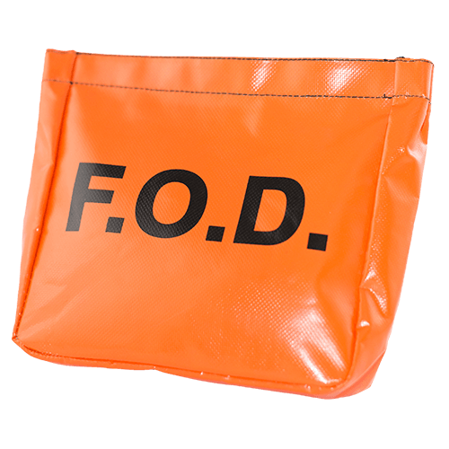 Vinyl Belt Pouch With Fod Logo Velcro Top Closure With