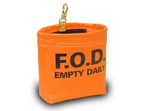 Orange Vinyl FOD Bag 7600